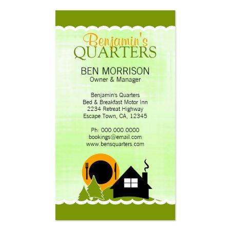 Cute Green Motor Inn Business Cards