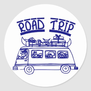 CHUCKLEMEDIA Vacation Road Trip Classic Round Sticker