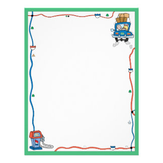 Vacation Road Trip Letterhead