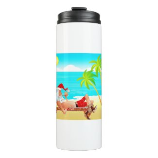 vacation santa claus thermal tumbler