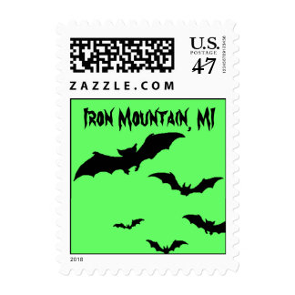 Vacation Stamp Iron Mountain MI Bats Mine Michigan