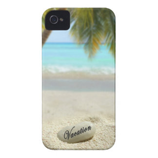 Vacation stone on beach iPhone 4 case