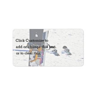 Vacation Subject Address Label