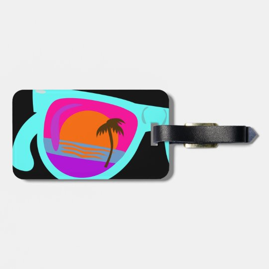 Vacation Sunset Shades Luggage Tag