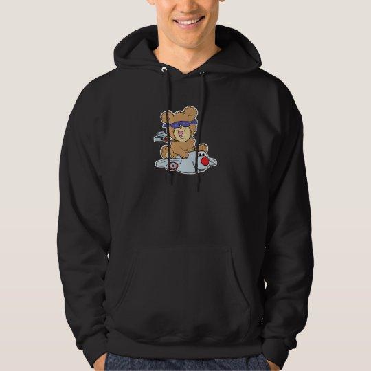 vacation teddy bear in plane hoodie