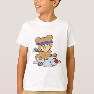 vacation teddy bear in plane T-Shirt