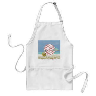 Vacation Time Goose Beach Scene Photo Frame Aprons