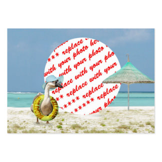 Vacation Time Goose Beach Scene Photo Frame Large Business Cards (Pack Of 100)