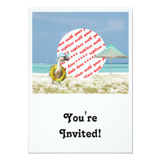 Vacation Time Goose Beach Scene Photo Frame 5x7 Paper Invitation Card