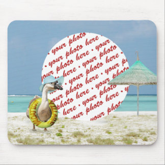 Vacation Time Goose Beach Scene Photo Frame Mouse Pad