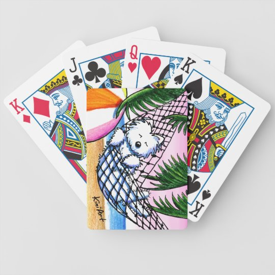 Vacation Westie Playing Cards
