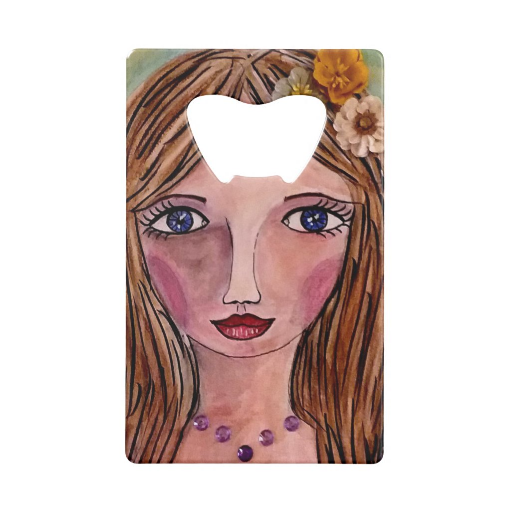 Vacationing Whimsy Girl Bottle Opener