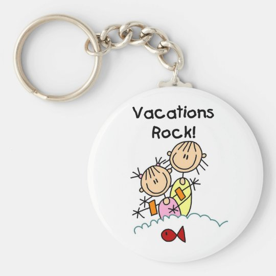 Vacations Rock T-shirts and gifts Keychain