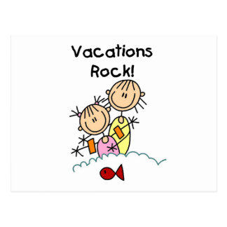 Vacations Rock T-shirts and gifts Postcard