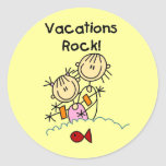 Vacations Rock T-shirts and gifts Sticker