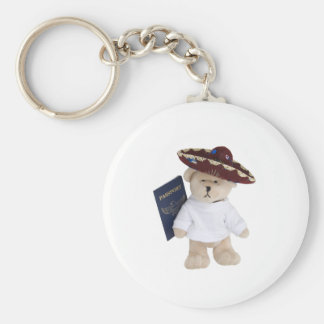 VacationTime100409 Basic Round Button Keychain