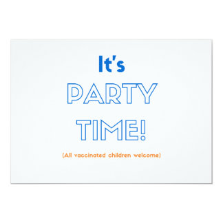 Vaccinated Party Invitations