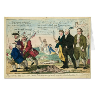 Vaccination Against Smallpox Political Cartoon Card