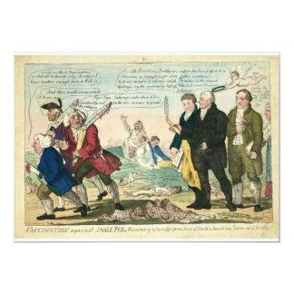 Vaccination Against Smallpox Political Cartoon Card
