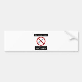 Vaccine Bumper Sticker