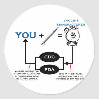Vaccine Chart Classic Round Sticker
