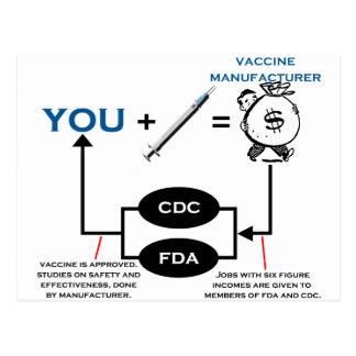 Vaccine Chart Postcard
