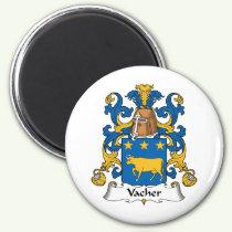 Vacher Family Crest Magnet