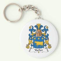 Vacher Family Crest Keychain