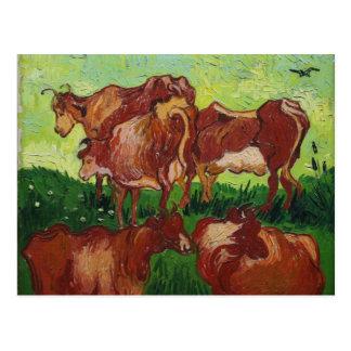 vaches Van Gogh de los les Tarjeta Postal