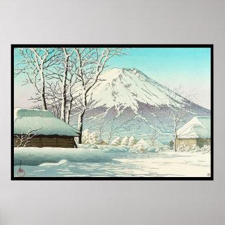 Vaciamiento después de nieve en Oshiono Hasui Kawa Posters