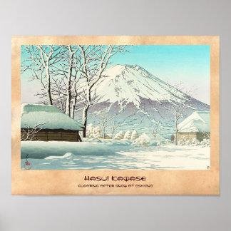 Vaciamiento después de nieve en Oshiono Hasui Kawa Impresiones