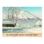 Vaciamiento después de nieve en Oshiono Hasui Kawa Tarjeta Postal