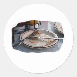 Vacie el diseño comido de Foodie de la comida del Pegatinas Redondas
