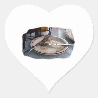 Vacie el diseño comido de Foodie de la comida del Pegatina Corazón