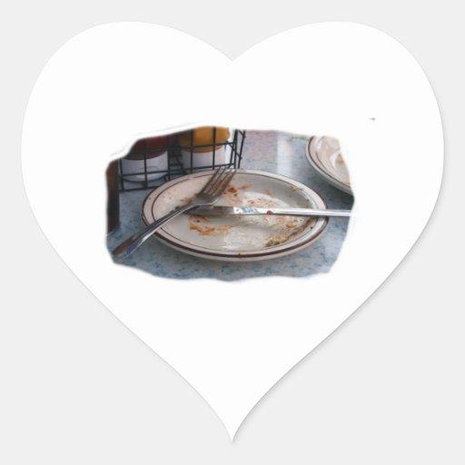 Vacie el diseño comido de Foodie de la comida del Pegatina En Forma De Corazón