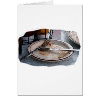 Vacie el diseño comido de Foodie de la comida del  Tarjeton