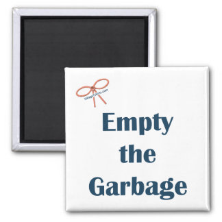 Vacie el imán del recordatorio de la basura