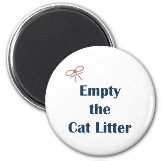 Vacie los recordatorios de la arena para gatos imán redondo 5 cm