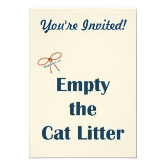Vacie los recordatorios de la arena para gatos invitaciones personalizada