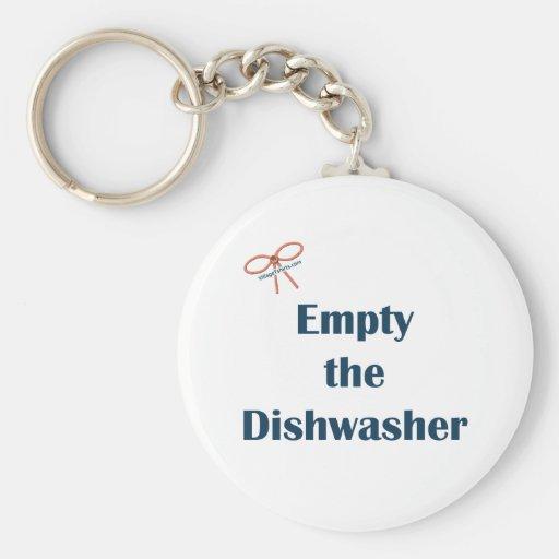 Vacie los recordatorios del lavaplatos llavero