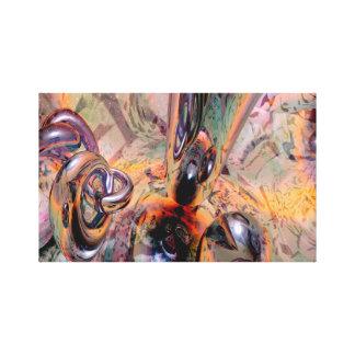 Vacío abstracto lona envuelta para galerías