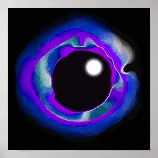 Vacío del ojo del añil impresiones