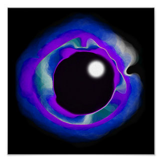 Vacío del ojo del añil póster