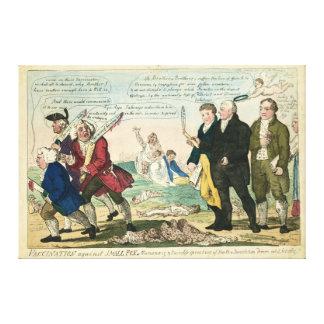 Vacunación contra dibujo animado político de la vi lona envuelta para galerías