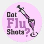¿Vacunas contra la gripe conseguidas de los Pegatina Redonda