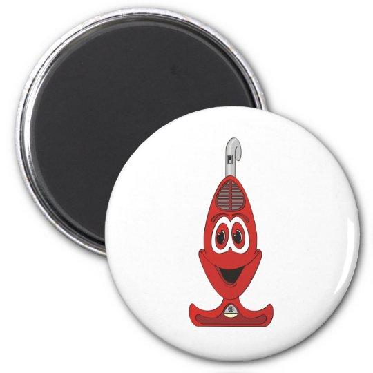 Vacuum Cartoon Red Magnet