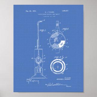 Vacuum Cleaner 1924 Patent Art Blueprint Poster
