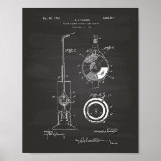 Vacuum Cleaner 1924 Patent Art Chalkboard Poster