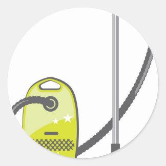 Vacuum Cleaner Classic Round Sticker