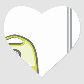 Vacuum Cleaner Heart Sticker